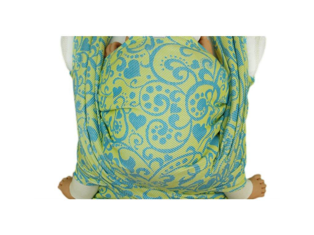 Lenka šátek Harmonie Žlutá