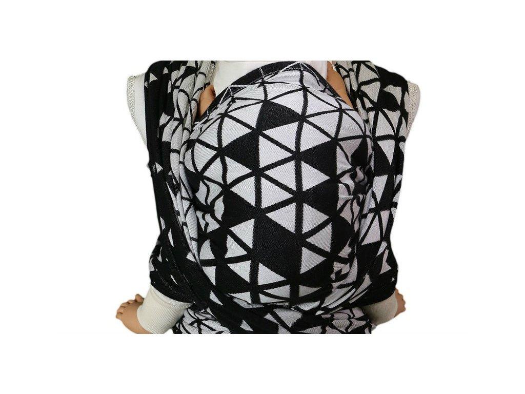 Lenka šátek Triangl Black & White