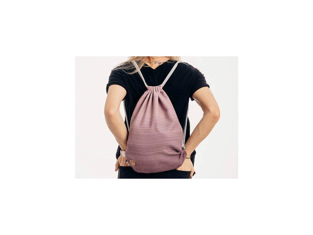 LennyLamb Sackpack Little Herringbone Ombre Pink