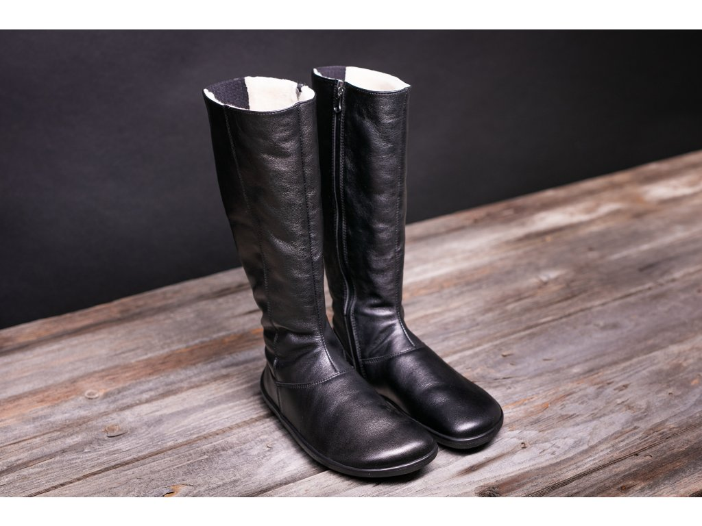 Barefoot holínky Be Lenka Winter Long Black