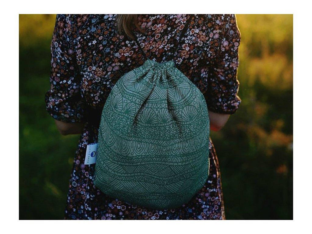 Little Frog Bag Green Linen Harmony