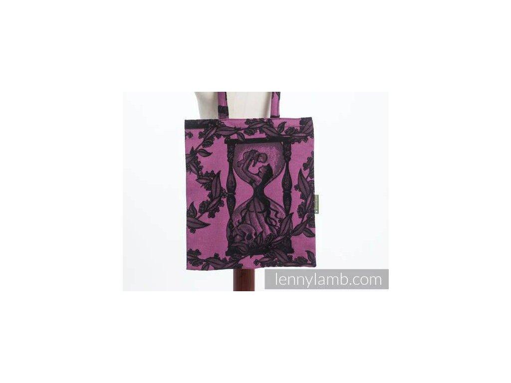 LennyLamb Nákupní taška Time Black & Pink