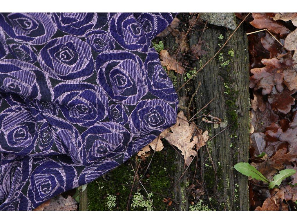 Yaro Ring Sling Roses Duo Violet Lilac Tencel Seacell