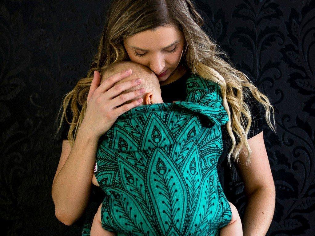 MoniLu UNI Start nosítko Peacock Smaragd