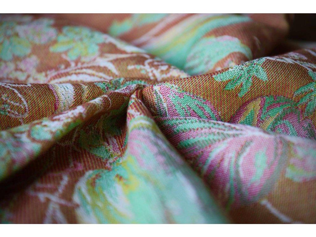 Yaro Ring Sling Floral Trio Brick Green Caramel Seacell