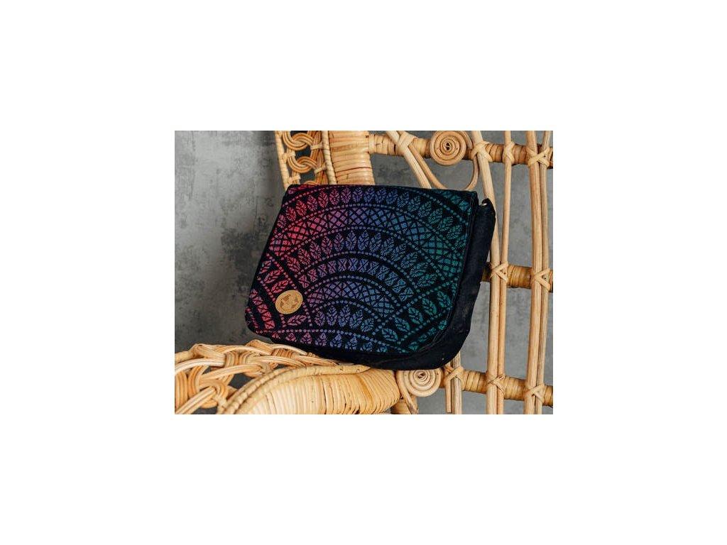 LennyLamb Kabelka 2v1 City Peacock's Tail Opal