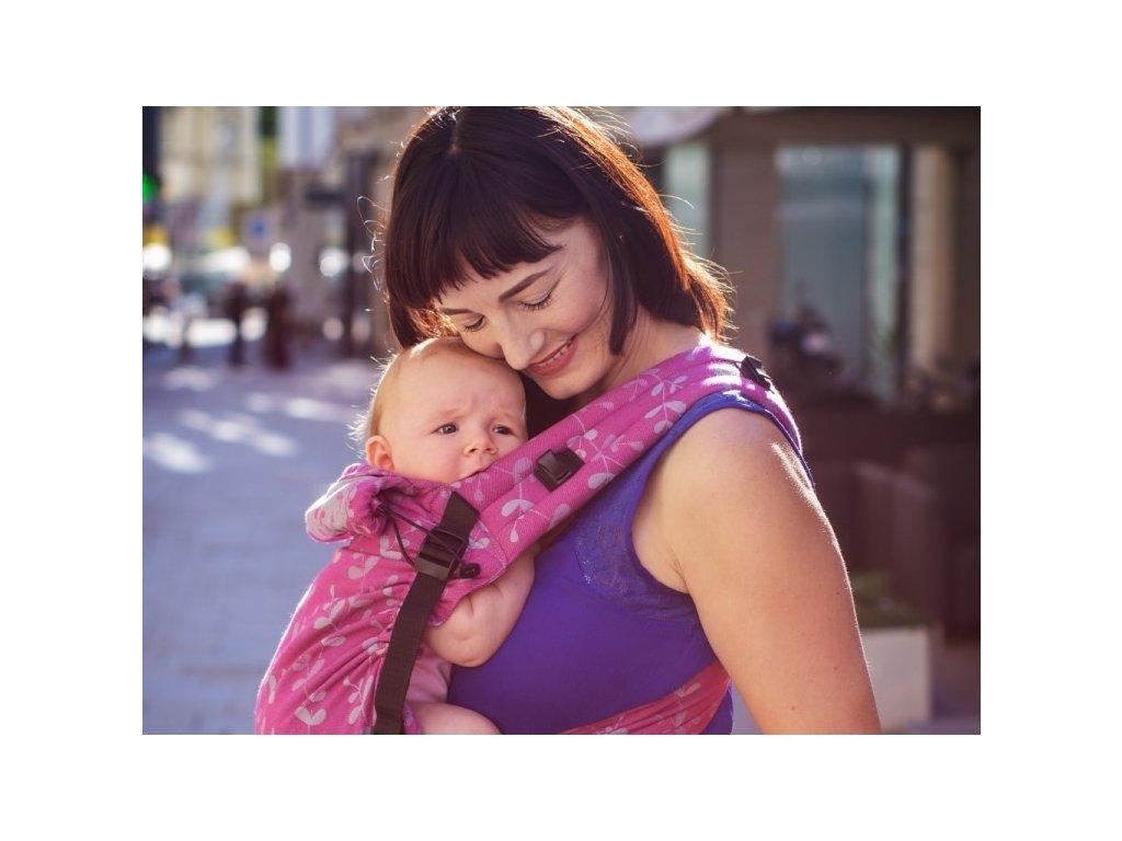 Moisha novorozenecké nosítko HuGo Herbejo Cyclamen