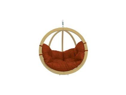 houpací křeslo Globo chair Terracotta