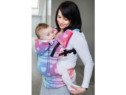 LennyLamb ergonomické nosítko Rainbow Lace