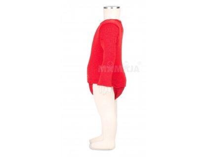 Manymonths body/tričko merino 16 Poppy Red