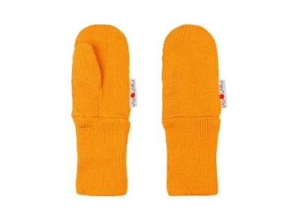 Manymonths rukavičky s palcem merinovlna Saffron Yellow