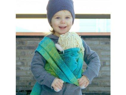 Didymos šátek na panenky Ada Malachit