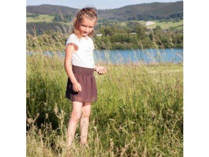 Angel Wings Dětská sukně šifonová hnědá