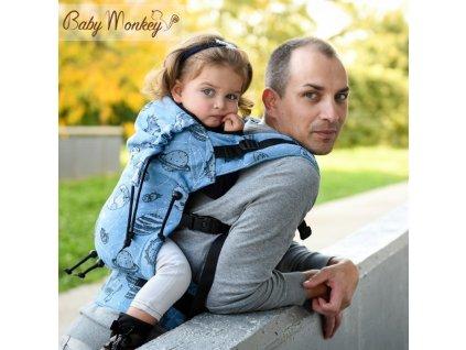 BabyMonkey Nosítko Space Celeste třpytky