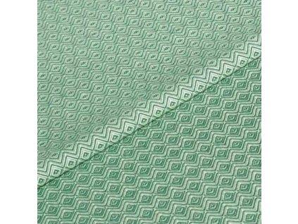 Šátek ŠaNaMi - Crystallis zelenožlutý
