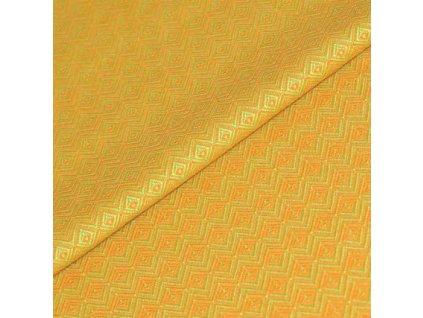 Šátek ŠaNaMi - Crystallis oranžovozelený