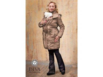 Diva Milano kabat zimní 4 v 1 Moka