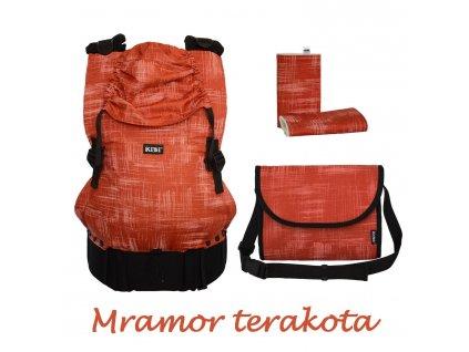 KiBi ochranné návleky Mramor terakota