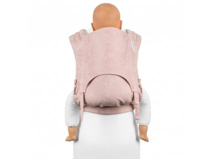toddler size fly tai mei tai baby carrier classic iced butterfly pale pink