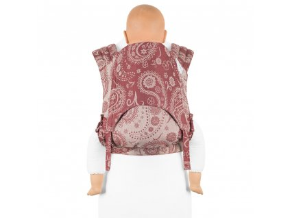 Fidella Mei Tai Toddler size Persian Paisley Ruby Red