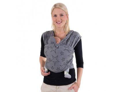 Hoppediz BIO Grey Star elastický šátek
