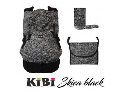 ergonomické nosítko KiBi Skica Black