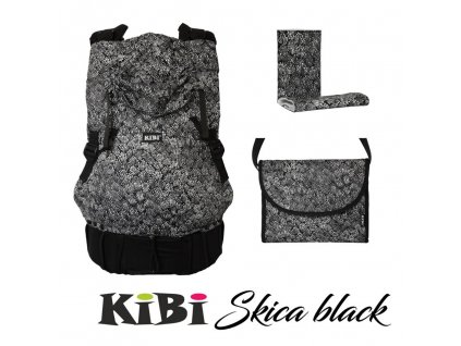 KiBi ochranné návleky Skica Black