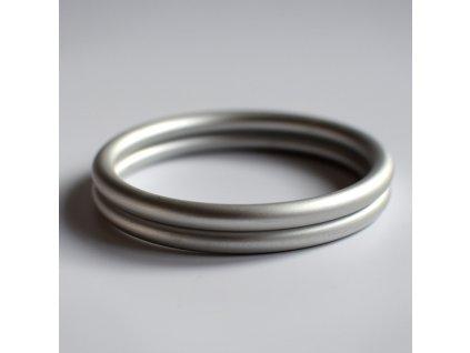 Ring Sling kroužek stříbrný mat