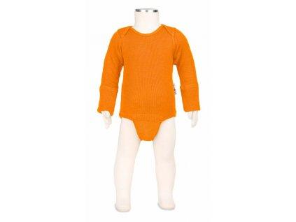 Manymonths body/tričko merino 18 Festive Orange