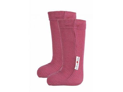 Manymonths ponožky s gumičkou merino 18 Frosted Berry