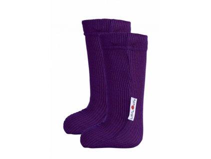 Manymonths ponožky s gumičkou merino 18 Majestic Plum