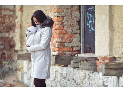 Angel Wings Softshellový kabát s kožíškem světle šedý
