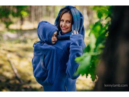 LennyLamb Fleecová mikina Blue s Little Herringbone Illusion 2.0