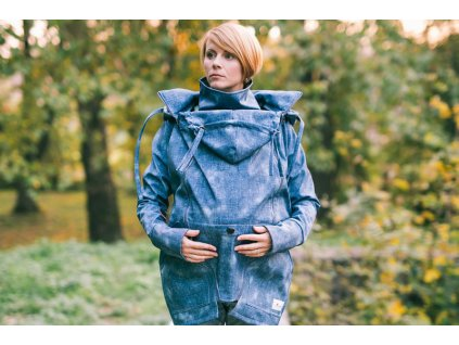 Lenka Softshellová bunda 4 v 1 Blue Jeans