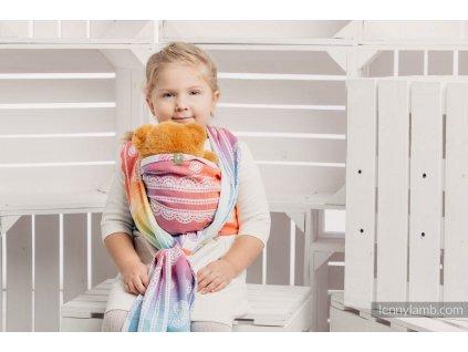 LennyLamb šátek na panenky Rainbow Lace