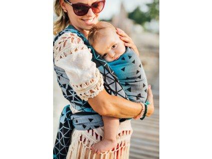Lenka šátek Triangl Safír