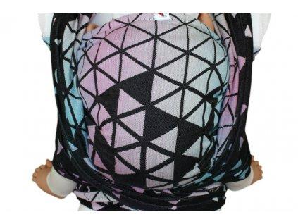 Lenka Ring Sling šátek Triangl Tyrkys & Pink