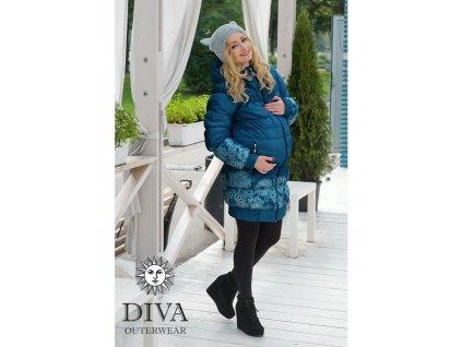 Diva Milano kabat zimní 3 v 1 Azzurro