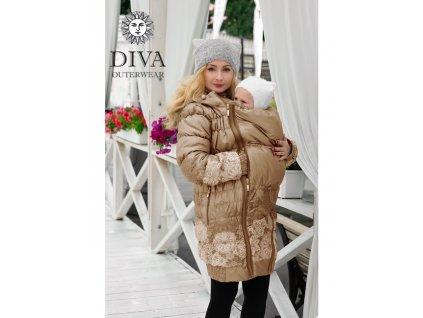 Diva Milano kabat zimní 3 v 1 Moka