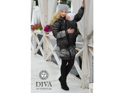 Diva Milano kabat zimní 3 v 1 Nero
