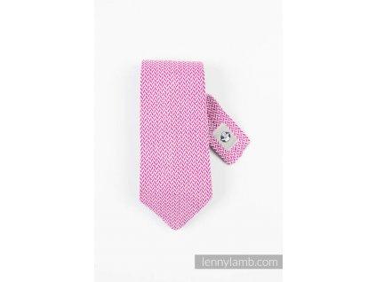 LennyLamb kravata Little Herringbone Purple