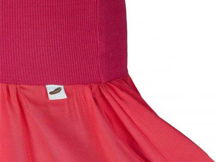 Angel Wings Sukně dámská dlouhá s kapsami Červená
