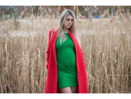 Angel Wings Kojicí šaty s kapsami Zelené