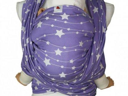 Lenka šátek Hvězdy Fialové