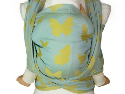 Lenka šátek Motýli Modro-zlatí