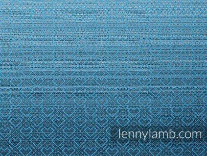 LennyLamb nosítko na panenky Little Herringbone Ombre Blue