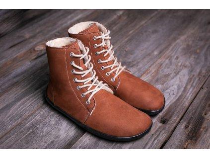 Barefoot kotníkové Be Lenka Winter Cognac