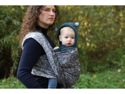 Yaro Ring Sling Blues Duo Silver Black Blue Tencel