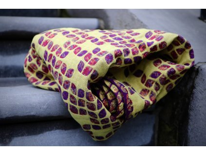 Yaro Ring Sling Petals Ultra Yellow Red Violet Wool Linen