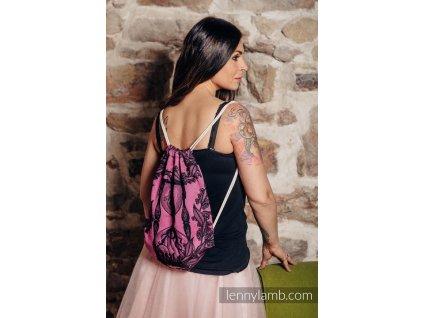 LennyLamb Sackpack Time Black & Pink